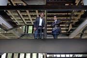 Stefan (links) und Adrian Leumann führen gemeinsam das Unternehmen Nolax (Bild Nadia Schärli)