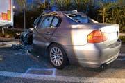 Hier ist der zweite Unfallwagen zu sehen. (Bild: Luzerner Polizei)