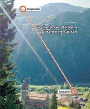 Rund 1000 Höhenmeter: Die Bahn soll Skifahrer von Göschenen direkt ins Skigebiet bringen. (Bild: PD)