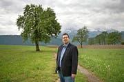 Stadtratskandidat Peter With (SVP) auf dem Littauerberg, der seit 2010 zur Stadt gehört. (Bild Pius Amrein)