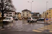 Der Kreisel in Siebnen soll unter anderem die Kreuzung mitten im Dorf entlasten. (Bild: PD)