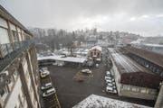 Blick auf das EWL-Areal in Luzern, auf dem eine Grossüberbauung geplant ist. (Bild: Roger Grütter/LZ, 5.1.2017, Luzern)
