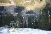 Die Lifte im Skigebiet Sörenberg stehen (noch) still. Das Bild stammt vom 22. Dezember 2014. (Bild: Dominik Wunderli / Neue LZ)