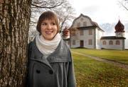 Selma Wick auf dem Landenberg. (Bild Corinne Glanzmann/Neue OZ)