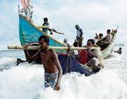 Fliehende Rohingya. (Bild: Abir Abdullah/Key (Teknaf, 13. September 2017))