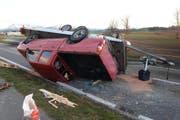 Die Unfallstelle in Ruswil. (Bild Luzerner Polizei)