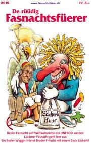 Cover des «Fasnachtsfüerers», gestaltet von Urs Krähenbühl. (Bild: zvg)