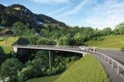 Visualisierung der neuen Chrutacherbrücke von Süden. (Bild: Kanton Luzern)