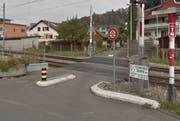 Der Bahnübergang Wegmatt soll aufgehoben werdn. (Bild: Google Streetview)
