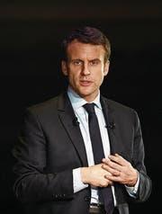 Kandidat Emmanuel Macron. (Bild: Facundo Arrizabalaga/EPA)