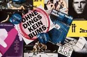 Bilder, Informationsblätter und Logos der international vielbeachteten, aber in der Schweiz oft umstrittenen Anti-Aids-Kampagnen. (Bild: Ralph Ribi)