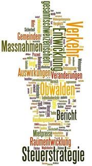 Der Bericht als Wortwolke: Je häufiger ein Wort vorkommt, desto grösser kommt es daher. (Bild Wordle.net)