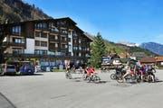 Der Dorfplatz von Emmetten - bald auch ein Sportplatz für die Schulgemeinde? (Bild Ohrengrübel)