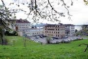 Auf diesem freien Grundstück wollte der Kanton Schulbauten errichten. (Bild: Werner Schelbert / Neue ZZ)