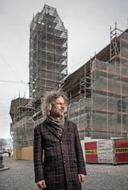 Jürgen Rotner, Rektor der Katholischen Kirchgemeinde Luzern, vor der Peterskapelle beim Kapellplatz. (Bild: Pius Amrein (Luzern, 23. Februar 2018))