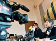 An der Medienkonferenz gibt SP-Stadträtin Claudia Nielsen ihren Rücktritt bekannt. (Bild: Walter Bieri/Keystone (Zürich, 7. Februar 2018))