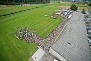 Blick auf den Flugplatz Beromünster; hier während der «Flügerchilbi» im vergangenen Sommer. (Bild: Pius Amrein / Neue LZ)