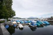 Der Bootshafen beim Inseli ist als möglicher Standort für die Salle Modulable im Gespräch. (Bild: Manuela Jans / Neue LZ)