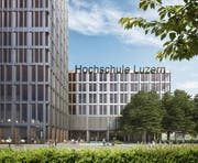 Die Fassaden des Campus, wie sie das Siegerprojekt vorsieht. (Bild: PD)