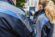 Polizeiassistenten der Luzerner Polizei. (Bild: Roger Grütter (Luzern, 5. Oktober 2016))