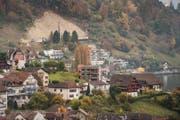 Blick auf die Gemeinde Weggis. (Bild: Boris Bürgisser (Weggis, 30. Oktober 2016))
