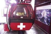 Die Titlis-Selfie-Gondel präsentiert sich im Alphütten-Look. (Bild: Titlis Bahnen)