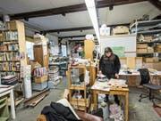 Künstlerin Shannon Zwicker in ihrem Atelier im Güterschuppen Luzern. (Bild: Manuela Jans-Koch (Luzern, 12. Januar 2018))