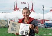 Annette Windlin auf der Luzerner Allmend. Die Ausmasse eines Circus Knie hat Windlins Kinderzirkus nie angenommen. (Bild: Corinne Glanzmann (18. Juli 2017))