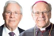 SVP-Politiker Christoph Blocher und der Churer Bischof Vitus Huonder. (Bilder: Keystone)