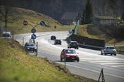 Blick auf die A8 bei Sarnen. Themenbild. (Bild: Corinne Glanzmann / Neue NZ)