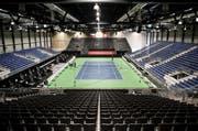Das Tennisstadion in der Messe Allmend Luzern ist bereit. (Bild Manuela Jans-Koch)