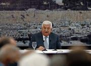 Der starke Mann im Westjordanland: Mahmud Abbas bei einem Treffen der palästinensischen Führung. (Bild: Abbas Momani/AFP (Ramallah, 21. Juli 2017))