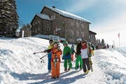Schulkinder im Skilager in Villars-sur-Ollon. (Bild: Keystone/Pascal Muller (17. Februar 2016))