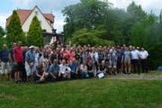 Teilnehmerinnen und Teilnehmer aus Rothenburg am Städte-Sportlertreffen 2017 in Rothenburg ob der Tauber. (Bild: PD)