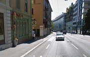 Das Restaurant «Hopfenkranz» (links) an der Zürichstrasse in Luzern. (Bild: Google Maps)