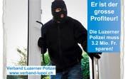 Die Luzerner Polizisten wehren sich gegen Sparmassnahmen. Im Bild: Ausschnitt aus einem Flyer des Verbands. (Bild: PD)