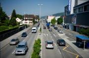 Blick auf die Luzernerstrasse in Ebikon. (Archivbild LZ)
