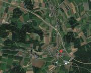 Die Schüsse sind in der Gemeinde Knutwil im Ortsteil St. Erhard (siehe Markierung) gefallen. (Bild: Google Maps)