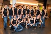 Die Mister-Schweiz-Kandidaten sind zu Besuch im Emmencenter. (Bild pd)