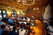 Der Grossstadtrat Luzern während einer Sitzung. (Bild: Archiv Neue LZ)