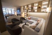Eine Lounge im 8. Stockwerk des neuen Waldhotel. (Bild: Keystone (14. Dezember 2017))