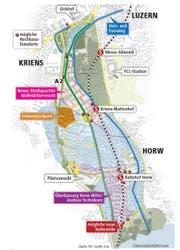 Das ist in Luzern Süd in den nächsten Jahren geplant. (Bild: Grafik: jn/ls)