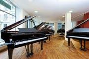 Am neuen Standort in Ebikon sind die Pianos im zweiten Stock anzutreffen. Das Bild stammt vom Standort Luzern. (Bild: PD)