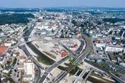 Blick auf die Baustelle am Seetalplatz. (Bild Philipp Schmidli)
