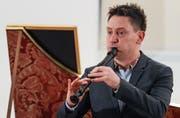 Virtuosität pur: Flötist Maurice Steger. (Bild: Philipp Schmidli (7. Januar 2017))