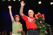 30. August 2009: Niklaus Troxler und seine Frau Ems haben zum letzten Mal das Jazzfestival Willisau organisiert und verabschieden sich. (Archivbild: Philipp Schmidli/LZ)