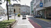 Hier beim Löwenplatz ereignete sich die Kollision zwischen einem Rollerfahrer und einem Linienbus. (Bild: Google Maps)