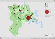 Kantonale Beschäftigungsdichte 2014. (Bild: zvg/LUSTAT)