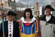 Nüsslervater Moritz Inderbitzin, Kurt Küttel und Paul Rickenbacher (von links). (Bild Nadia Reichlin/Neue SZ)