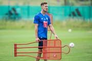 François Affolter während des FCL-Trainingstarts. Nach Kroatien durfte er nicht reisen. (Bild: Alexandra Wey/Keystone (Luzern, 24. Juni 2017))